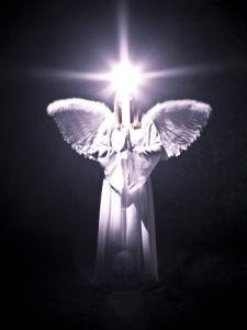 Angel on black background by Assaf Frank