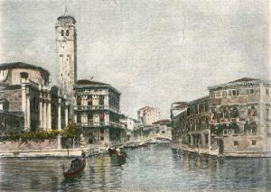 The Canals of Venice (Restrike Etching) by L. Lanza