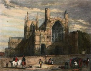 Rochester Cathedral (Restrike Etching) by Anonymous