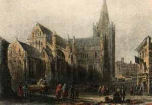 Dublin, St. Patricks Cathedral (Restrike Etching) by Anonymous