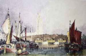 Boston, Lincolnshire (Restrike Etching) by Anonymous