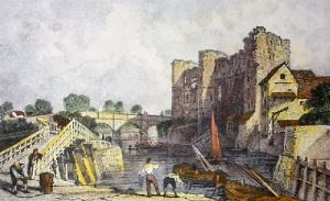Newark Castle (Restrike Etching) by Anonymous
