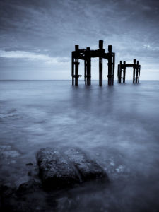Old Jetty The Dolphins, Lepe Beach (II) by Assaf Frank