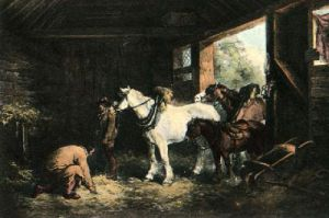 A Inside of Stable (Restrike Etching) by George Morland
