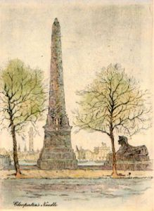 Cleopatras Needle (Restrike Etching) by Anonymous