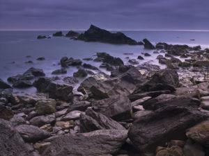 Rocks at sea, Cornwall coast line, Duckpool beach by Assaf Frank