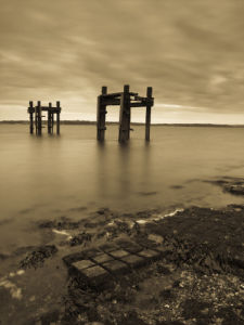 Old Jetty The Dolphins, Lepe Beach, Hampshire, UK by Assaf Frank