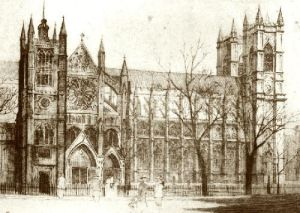 Westminster Abbey (Restrike Etching) by Anonymous