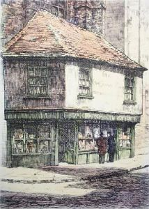 Old Curiosity Shop (Medium) (Restrike Etching) by Anonymous