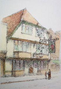 Canterbury, Sir John Fairestaff (Restrike Etching) by Anonymous