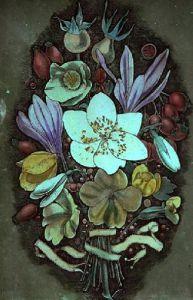 Autumn Flowers (Restrike Etching) by Lawrence Josset