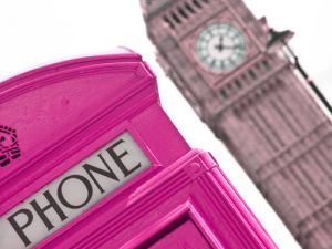 London Telephone Box and Big Ben (II) by Assaf Frank