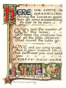 Here we Come a Wassailing (Restrike Etching) by Anonymous