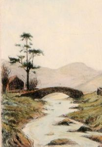Brook & Bridge (Restrike Etching) by Anonymous