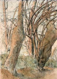 Edge of the Wood (Restrike Etching) by Anonymous