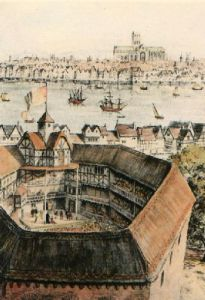 Globe Theatre (Restrike Etching) by John Berry