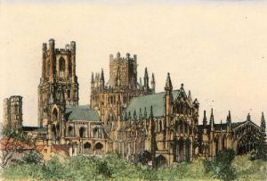 Ely Cathedral (Restrike Etching) by Anonymous