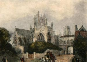 Wells Cathedral (Restrike Etching) by Anonymous