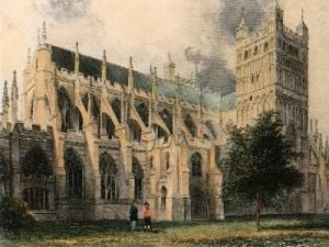 Exeter Cathedral (Restrike Etching) by Anonymous