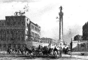 Duke of Yorks Column (Restrike Etching) by Anonymous