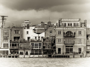Houses on the River Thames by Assaf Frank