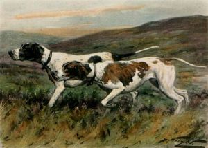 Out on the Moors (Restrike Etching) by Wright
