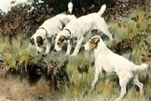 An Afternoon Call (Restrike Etching) by Arthur Wardle