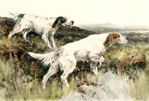 On the Moors (Restrike Etching) by Arthur Wardle