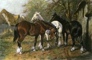 Sunday Rest (Restrike Etching) by Wright