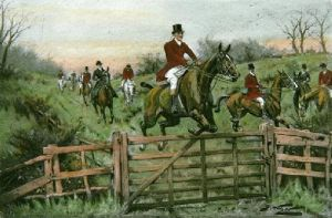 A Good Lead (Restrike Etching) by Wright
