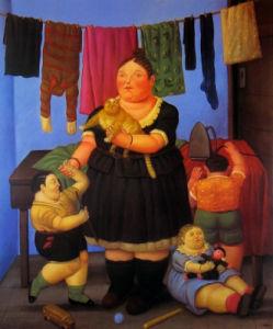 The Widow by Fernando Botero