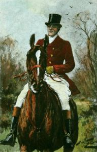 Huntsman (Plate 2) (Restrike Etching) by Wright