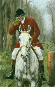 Huntsman (Plate 3) (Restrike Etching) by Wright