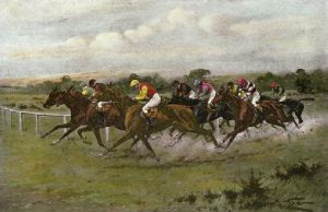 Rounding the Bend (Restrike Etching) by Wright