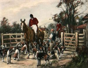 At The Old Turnpike (Restrike Etching) by Wright