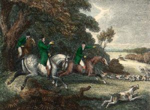 Stag in Sight (Restrike Etching) by Samuel Howitt