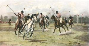 A Backhander Stops a Rush (Restrike Etching) by Wright