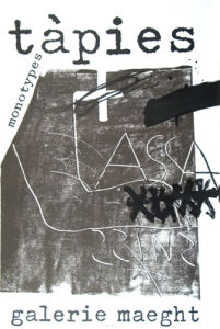 Monotypes 1974 by Antoni Tapies