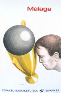 Affiche Mundial 1982, Malaga by Topor