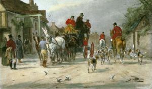 Hunting Morning, A (Restrike Etching) by Wright