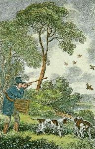 Partridge Shooting (Restrike Etching) by Samuel Howitt