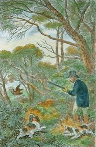 Woodcock Shooting (Restrike Etching) by Samuel Howitt