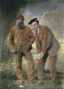 Old Tom and Young Tom (Restrike Etching) by Anonymous