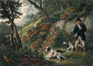 Pheasant Disturbed (Restrike Etching) by Samuel Howitt