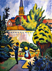 Children in the Garden by August Macke
