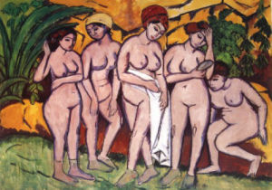 The Bathers by Ernst Ludwig Kirchner
