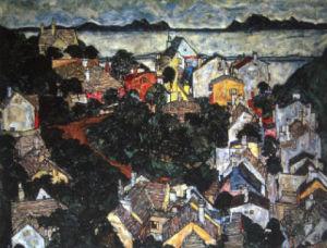 Small Town Landscape by Egon Schiele