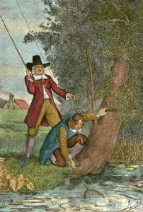 Landing the Trout (Restrike Etching) by Lawrence Josset