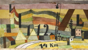 Station L 112, 14 km. by Paul Klee