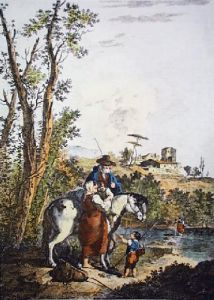 The Old Ploughman (Restrike Etching) by Anonymous